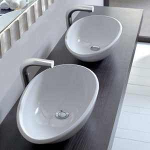 Victoria + Albert Napoli 57 basin in volcanic limestone is distributed in Queensland by Luxe by Design, Brisbane.