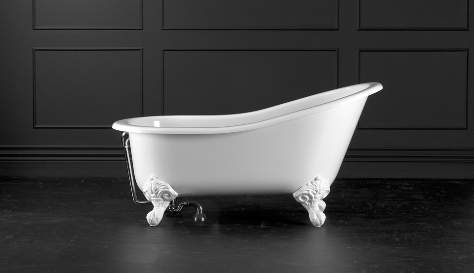 Victoria + Albert Shropshire traditional bath in volcanic limestone is distributed in Quenesland by Luxe by Design, Australia.
