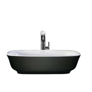 Victoria + Albert Amiata Matte Black basin custom painted bath by Luxe by Design, Brisbane.