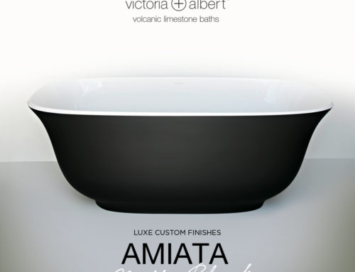 Matte Black Amiata bath on The Block