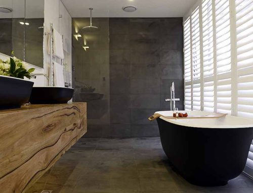 Matte Black Amiata bath wins The Block master ensuite