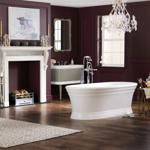 Victoria + Albert Worcester traditional plinth bath is imported and distributed in Australia by Luxe by Design, Brisbane.
