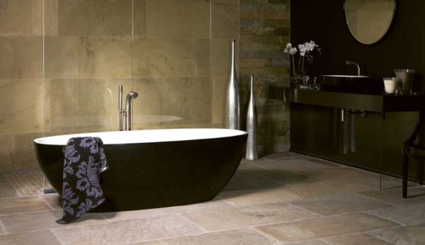 Victoria + Albert Black Barcelona free standing bath and basins are distributed to Sydney, Melbourne, Brisbane, Canberra and Hobart by Luxe by Design.