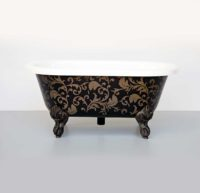 Victoria + Albert Cheshire Baby Bath in filigree pattern by Luxe by Design, Brisbane.