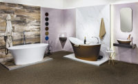 Victoria + Albert Gallery showroom display at Domayne Alexandria. Sienna metallic amalfi bath and amalfi basin and Ionian bath.