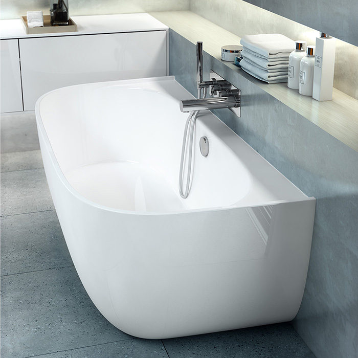 Victoria + Albert Eldon built-in freestanding bath. Distributed in Australia by Luxe by Design, Brisbane.