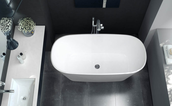 Victoria + Albert Vetralla small freestanding bath 1500mm for apartments. Distributed in Australia by Luxe by Design, Brisbane.