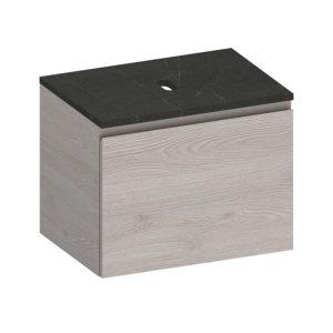 Kokoon Elements 70cm rovere dogato grigio cabinet with tempesta stone top. Luxe by Design Australia