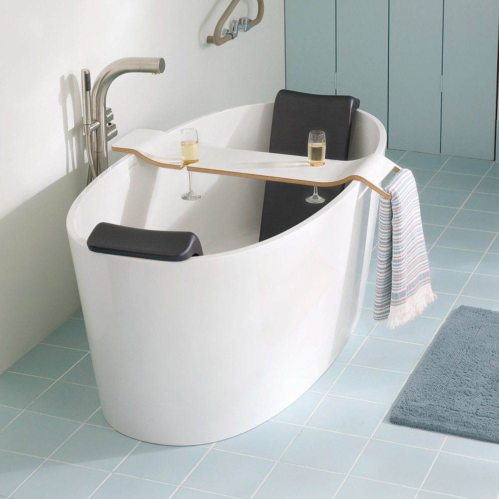 Victoria + Albert Tombolo 10 White bath caddy is distributed in Queensland by Luxe by Design, Australia.